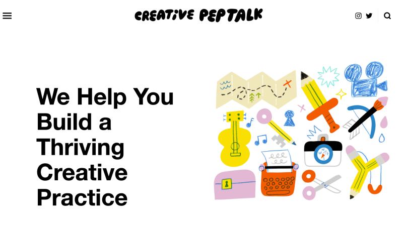 The Creative Pep Talk website